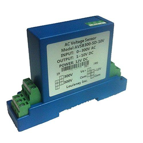 Loulensy AC Voltage Transducer Voltage Sensor Transmitter Transformer Input 0-300V AC Output 0-5V DC