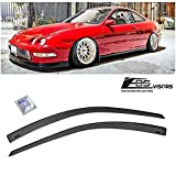 Extreme Online Store for 1994-2001 Acura Integra DC2 3Dr Hatchback | EOS Visors JDM Tape-On Style Smoke Tinted Side Vents Rain Guard Window Deflectors