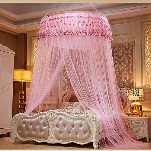 Lanrui Moskitonetz Kuppel Decke Sommer-Prinzessin Art-Fußboden-zu-Haut Geeignet for Schlafzimmer Haus 1.2m1.5m1.8m Bed (Color : Pink, Size : 1.5m)