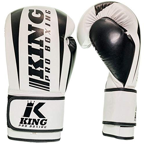 King PRO Boxing Boxhandschuhe, Revo 2, weiß Größe 10 Oz