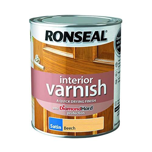 RONSEAL 36832 IVSBE750 Innenlack, schnelltrocknend, seidenmatt, Buche 750 ml, beech, Various colours