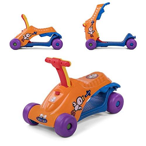 Baby Vivo Scooter Loopstoeltje 2in1 Multifunctioneel Roller Runner voor kinderen- Oranje