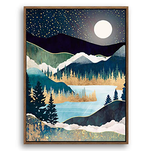 Texture of Dreams Wood Framed Canvas Home Artwork Decoration Nordic Style Abstract Color Canvas Wall Art for Living Room, Bedroom, Office (19'x25' inch, Nordic-A07)