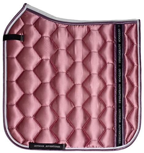 Outdoor Adventures Honey Satin paardsport dressur sjabrak voor paard | 5 kleurvarianten: Café Latte, grijs, zwart, marine, wit, roze (pink)