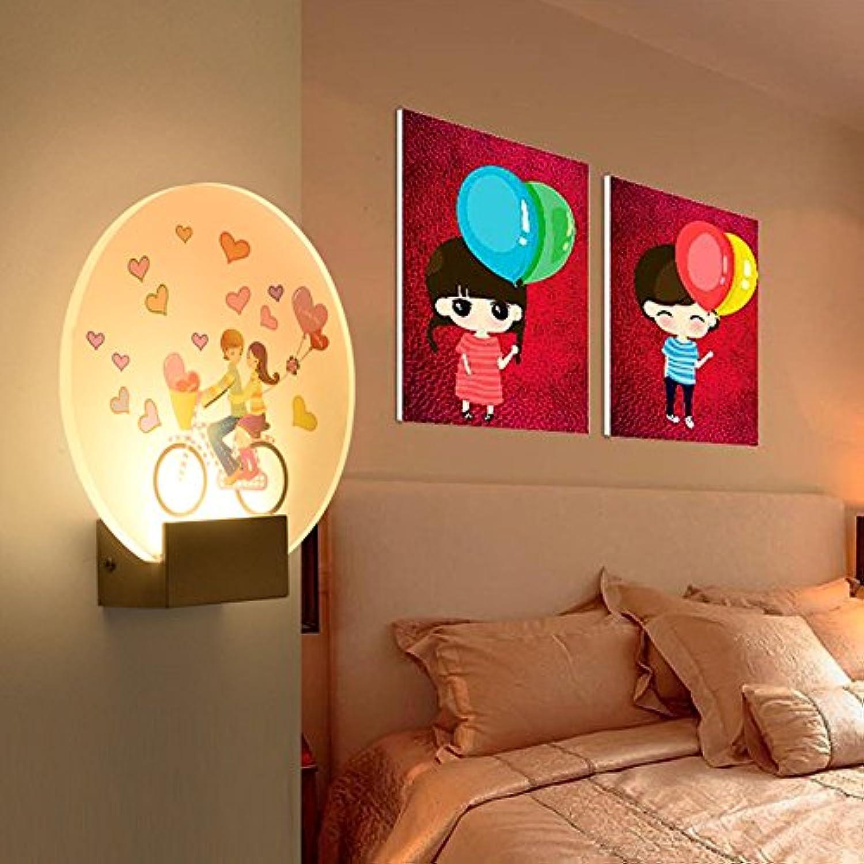 Wandleuchte Wandmontiert LED, kreative Moderne Wohnzimmer Schlafzimmer Nachttischlampe Treppe Korridor Lichtleiste (Stil   A)