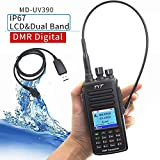 TYT MD-UV390 MD-390 DMR Digital Radio VHF/UHF Dual Band 150-174/450-480MHz Waterproof IP67 Handheld Two Way Radio 2 Antenna with USB Cable