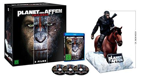 Planet der Affen Trilogie - Special-Edition mit Caesar Figur (exklusiv bei amazon.de) [Blu-ray] [Limited Collector's Edition]