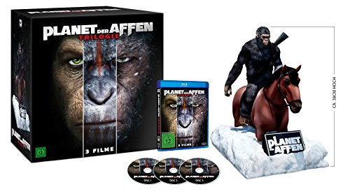Planet der Affen Trilogie - Special-Edition mit Caesar Figur (exklusiv bei amazon.de) [Blu-ray] [Limited Collector's Edition]