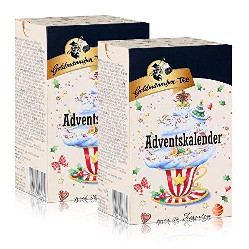 Goldmännchen-Tee Adventskalender mit 24 Teesorten 50g (2er Pack)