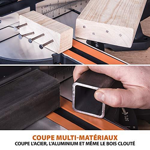 Evolution Power Tools - Scie à Onglets Coulissante Multi-Matériaux R255SMS + avec le Pack Plus, 255 mm (230 V)