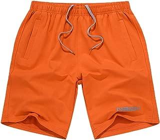 Fxbar Men's Loose Large Size Solid Color Shorts, Summer Fashion Shorts