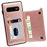 MMHUO Galaxy S10 Wallet Case, Premium PU Leather Galaxy S10 Case...