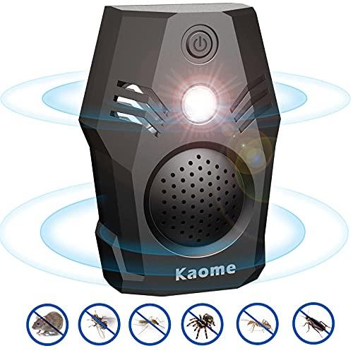Kaome Ultraschall Schädlingsbekämpfer 2021 Neue Tragbarer Ultraschall-Insektenvertreiber mit Bionische Ultraschall und stark Blinkender LED Steckdose Schädlingsbekämpfer für Ratten, Mücken Kakerlaken