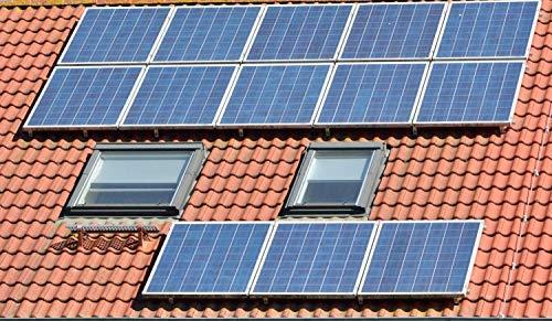 Estructura panel solar Soporte de placas solares Aluminios para todos tipos de paneles solares Tipo Tejado Perforant VALE PARA 4 PANEL