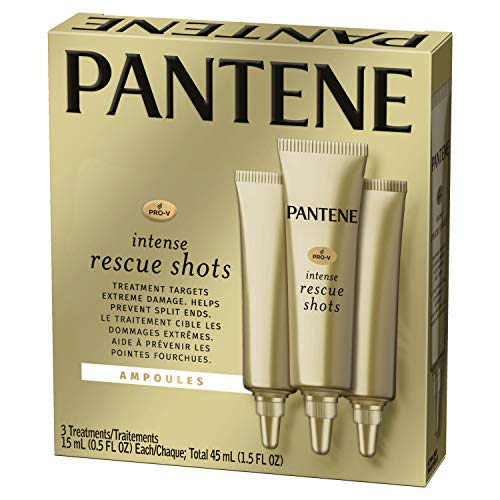 Pantene Rescue Shots Hair Ampoules Treatment, Pro-V Intensive Repair of Damaged Hair, 1.5 Fl Oz (Pack of 3)
