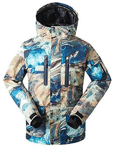 APTRO Skijacke Herren warm Jacke gefüttert Winter Jacke Regenjacke Blau 1066 L