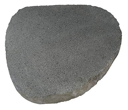 STONE art & more 2er Set Trittsteine bossiert, Trittplatten, Untersetzer, ca. 30-40 cm, Flussstein, Naturstein, frostfest