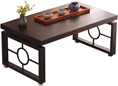 Small Coffee Table Sofa Side End Table for Balcony and Living Room Living Room Furniture,with Solid Wood Legs,Multiple Size (Color : Brown, Size : 60 * 40 * 31cm)