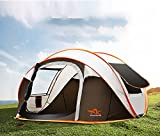 Outdoor Tente 2 Secondes de Vitesse Automatique de 3 ou 4 Personnes Ouverte Tente de Camping imperméable de Juillet