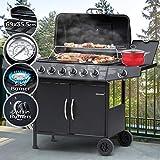 Barbecue a Gas - Griglia con 7 Bruciatori (6+1), in Acciaio, con Termometro e...