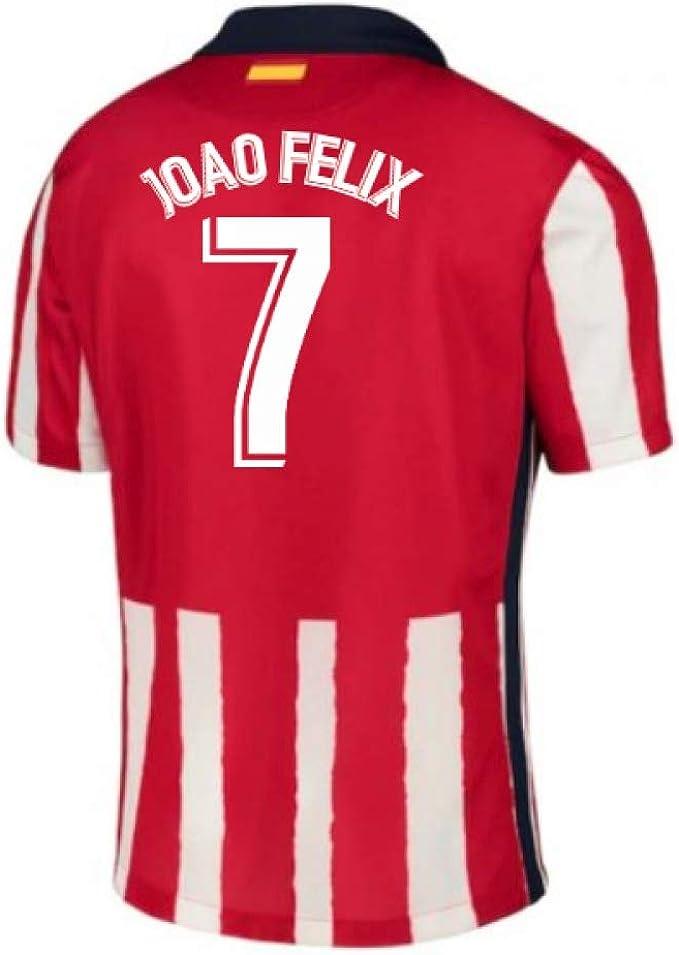 2020-2021 Atletico Madrid Home Nike calcio t-shirt (João Félix 7 ...
