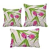 カーネーションの花の花の植物の葉 インサートのクッション・カバー/装飾贈り物がセットした家のソファ、枕を放り投げます