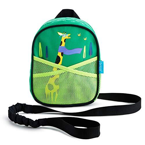 Munchkin Brica By-My-Side Baby-Rucksack mit Sicherheitsleine, Giraffe, grün