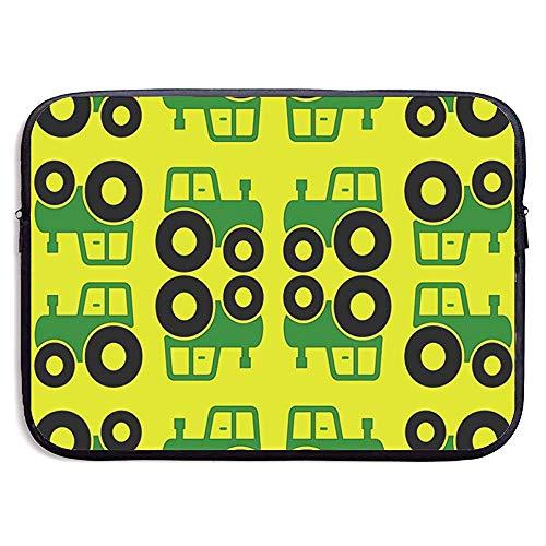 15inch groene en gele trekkers stof waterafstotende laptop hoes tas cover