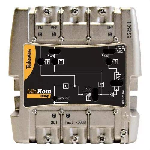 Preisner MVNF344LTE amplificador señal de TV - Amplificador de señal de TV (Negro, Metálico)