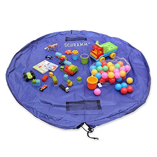 Schramm® Aufräumsack Kinder Aufbewahrungsbeutel Spielzeugaufbewahrung Spieldecke Aufbewahrung Matte Beutel Ø 150 cm Spielzeugtasche Spielmatte