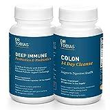 Dr. Tobias Digestive Kickstarter Bundle with Colon 14 Day Cleanse & Deep Immune Probiotics & Prebiotics