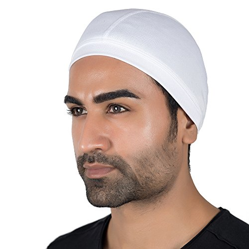 Le Gear Dri-Fit Helmet Skull Cap (White)