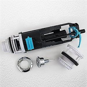 Altura ajustable Skylo Universal de doble descarga válvula de cisterna completo con pulsador