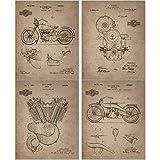 Harley Davidson Patent Prints - Set of 4 (8...