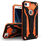 ZIZO Static Series for iPhone 8 Case Military Grade Drop Tested with Built in Kickstand iPhone 7 iPhone 6s Case Black Orange