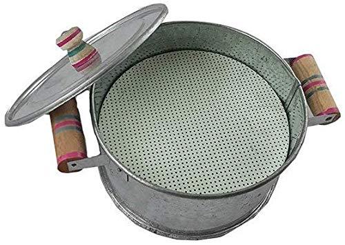 Amrapali Multipurpose Gas Tandoor, Oven,Barbeque Griller/Bati Maker/Pizza Maker-Silver, Medium-Sized 9 inches