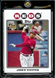 2008 Topps Baseball Cards # 319 Joey Votto (RC) - Cincinnati Reds - MLB Baseball Rookie Card in a Protective Screw Down Display Case. rookie card picture
