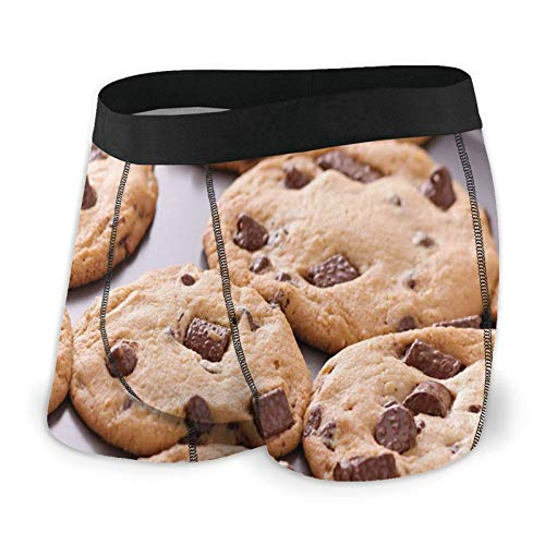 Men's Boxer Briefs Underwear,Chocolate Chip Snacks On A Tray Baking Themed Food Photography Dessert Time Concept M