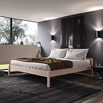 EXTREMADAMENTE ESTABLE - Esta cama de madera maciza de Hansales es la cama individual, cuna, cama juvenil o cama compacta ideal para tu hogar; también es excelente y fiable somier para hoteles y pensiones COMPLETAMENTE NATURAL - Esta cama de madera i...