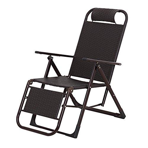 Chaise longue JCOCO en Osier/Pause déjeuner Pliante en rotin/Chaise de Sieste de Bureau/Balcon à la Maison Chaise à Bascule paresseuse/Maison Chaise extérieure Portable/Chaise