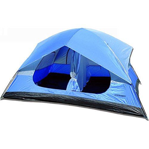 """LCM Home Fashions, Inc. Ranger 2 Person Tent (TN001). Outdoor 4 Season Tent. Best Use: Travel & Car Camping. Vented Cool-Air Port. Privacy Vent Window.144 H X 120"""" W X 70.9"""" D"""