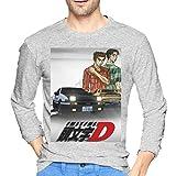 ブルームン Tシャツ 長袖 頭文字d トレーナー シャツ 上着 ファッション カットソー S Gray 綿 メンズ レディース