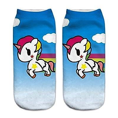 Rainbow Fox mujer unicornio calcetines único diseño, cómodo Deportes calcetines Niños (#10)