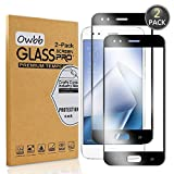 Owbb [2 Pezzi Nero Vetro Temperato Pellicola per ASUS ZenFone 4 ZE554KL (5.5 Pollici) Smartphone Full Coverage Protettiva Protezione 9H Durezza 99% Alta Trasparente