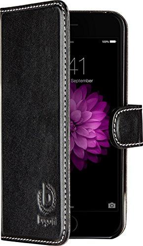 Bugatti BookCase Rome - exklusive Echtleder-Tasche für Apple iPhone 6 / 6S  [Handarbeit | Kartenfach | Magnetverschluss | Logoprägung]
