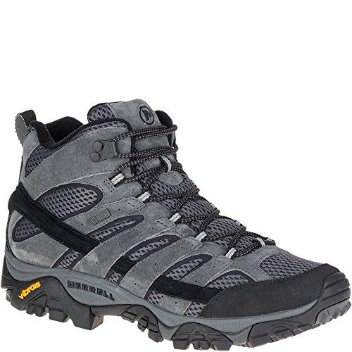 Merrell Men's Moab 2 Mid Waterproof Hiking Boot, Granite, 9 M US