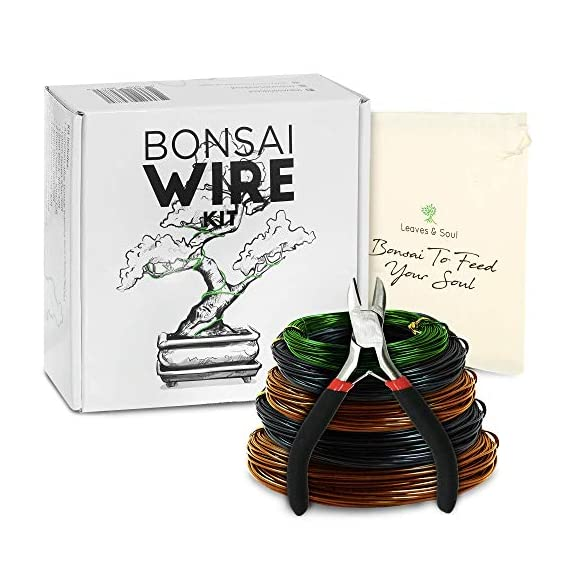 Leaves and soul tree training wire kit - 5 rolls (160ft) aluminum alloy bonsai plant training wire | wire cutter… 1 ✅ flexible but sturdy - our bonsai tree training wires are made of top-quality aluminum alloy, which is strong but easy to mold. They stand strong against rust and bends easily without breaking. ✅ meets different needs - this plant wire set has different sizes of training wires including 1. 0mm, 1. 5mm, 2. 0mm, 2. 5mm, and 3. 0mm wires, all with a length of 32 feet. Total of 160 feet of wire for all of your projects. They can also be used for handmade craft making, sculpture projects and jewelry making. ✅ cuts easily - our gardening kit comes with a high quality traditional bonsai wire cutter. This tool can cut the thickest aluminum wire effortlessly.