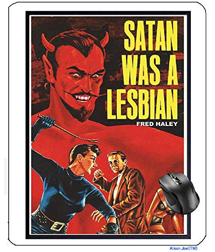AVENTN Satan was A Lesbian Vintage Movie Makes a Great Gay LGBTQ Queer Chic Mouse pad 8.7' x 7.08' inch