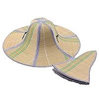 CosHall 麦わら帽子 園芸作業 日よけ帽子 折りたたみ つば広 帽子 釣り帽 ハット UVカット 紫外線 日焼け サイズ調節可能 日除け帽子 軽い 丈夫 登山・釣り・農作業・アウトドア メンズ レディース 男女兼用