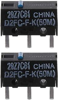 SIWETG - Interruptor micro D2FC-F-K (50 m), diseño de lunares azules D2FC-F-K (50 m)